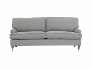 Snygg 3 sits ljusgrå Howard soffa stomme i furu.