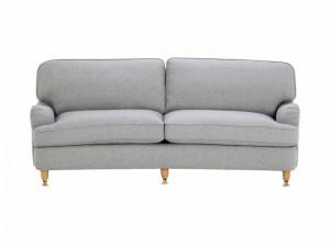 3 sits Howard soffa svängd ljusgrå